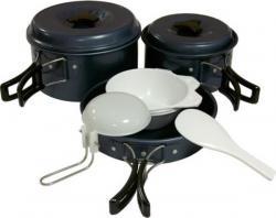 Набор посуды анодированной с антипригарным покрытием TRC-023