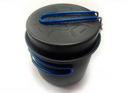 Кастрюля-кружка 0,9 л. анодированная с крышкой-сковородкой  TRC-039