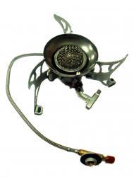 Горелка складная с пьезоподжигом, со шлангом и подогревом TRG-012
